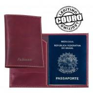 Porta Passaportes de Couro