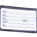 Etiqueta de Identificação em dois idiomas (Português e Inglês)
