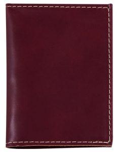 Porta Documentos de Couro Vinho